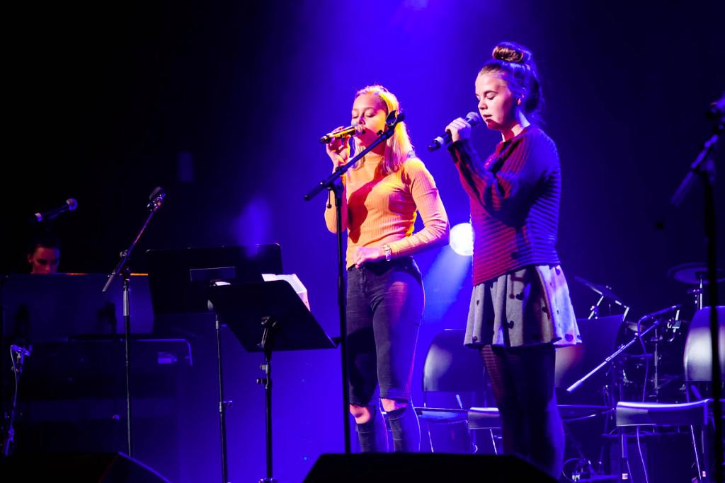 Elevene som opptrådte under fjorårets semesterkonsert i desember.